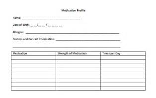 Medication Profile Template importance of carrying an updated medication card