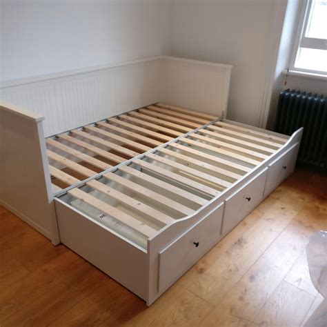 pull out bed ikea ikea hemnes white wooden pull out double day bed with