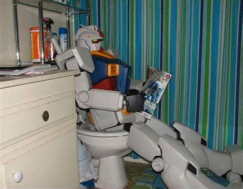 Using The Bathroom by Gundam Using The Bathroom Dorkly Post