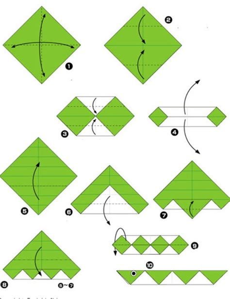 Origami Snake Easy - simple origami for and their parents selection of