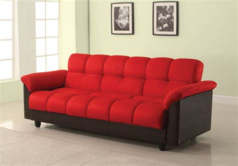 sofa red and black red and black adjustable sofa bed
