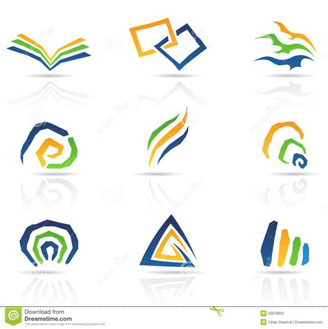 abstract icon stock image image 35579161 free style abstract icons stock vector image of design