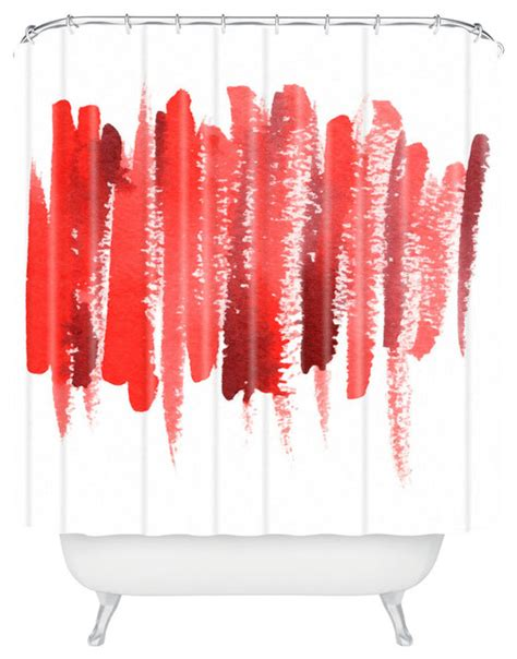 social proper strokes shower curtain contemporary