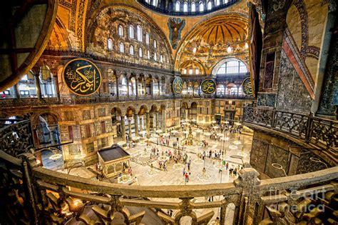 interior photo hagia sophia beautiful romantic face of istanbul