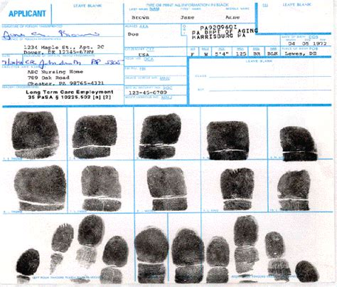 Fbi Background Check Fingerprint Card Fd 258 Fingerprint Cards