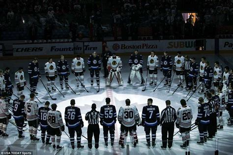 nhl teams pay tribute  victims  canadian hockey team