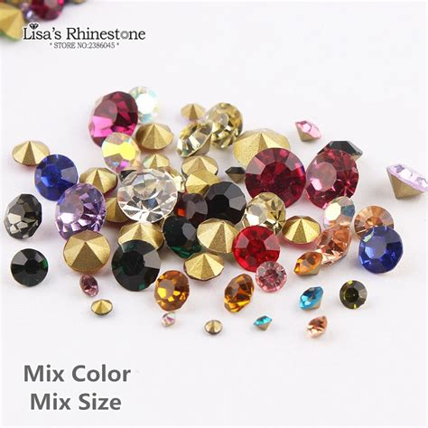 Nail Rhinestone Point Back Mix Color rhinestone nail designs promotion shop for promotional rhinestone nail designs on aliexpress