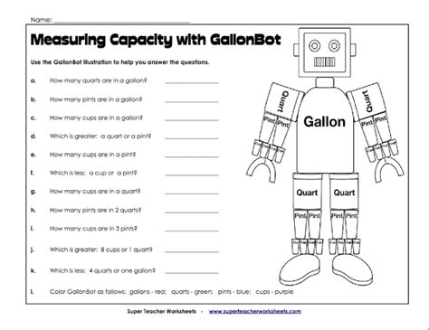 gallon template gallon worksheet davezan