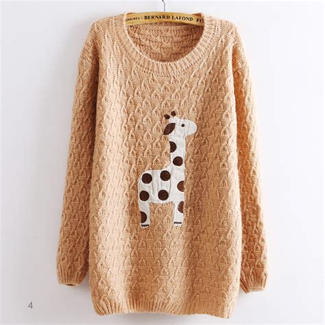Girafe Jumper light pink adorable giraffe pullover