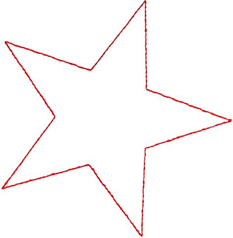 perfect star outline clipart best