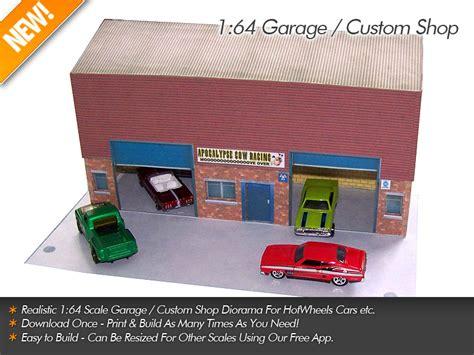 Pit Garasi 1 32 By Ferriz Project 1 64 garage custom shop for hotwheels etc scale model
