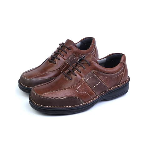 casual sneakers mens mens brown leather urethane sole sports fashion casual