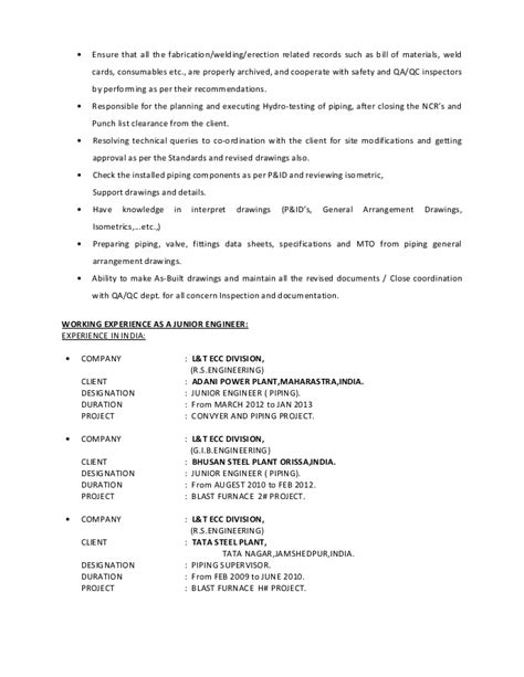 superintendent resume sle piping superintendent sle resume 28 images plumbing