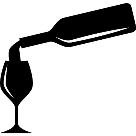 wine bottle svg serving wine in a glass with a bottle free food icons