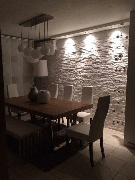 pareti illuminate pareti di pietra per interni di design arredamento