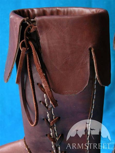Handmade Renaissance Boots - handmade high leather boots for renaissance