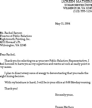 sample thank you letter after interview monster thank you letter
