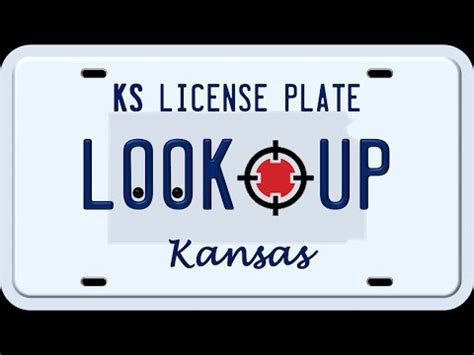 License Plate Address Search Vehicle Registration Plates Of Kansas