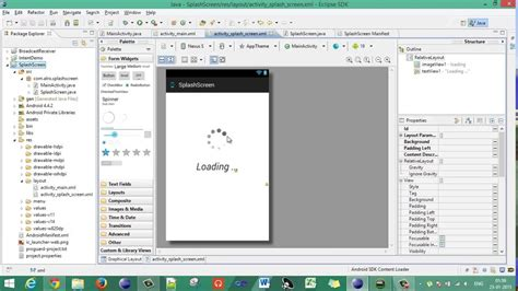 tutorial android eclipse luna android eclipse 02 creating a custom splash screen