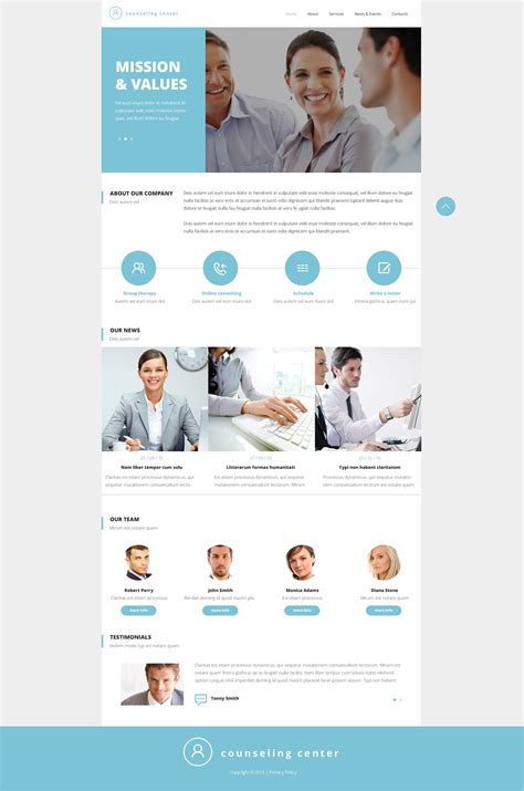 Counseling Responsive Website Template 52662 Counselling Websites Templates
