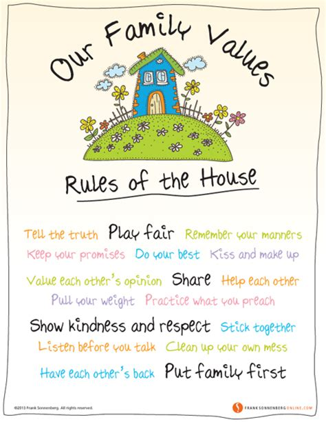 family house rules our family values