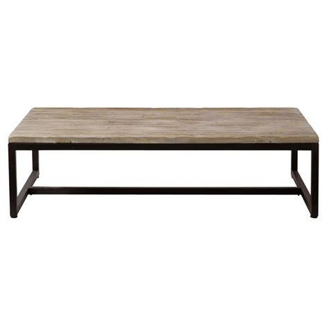 Metal Industrial Coffee Table Solid Fir And Metal Industrial Coffee Table Island Maisons Du Monde