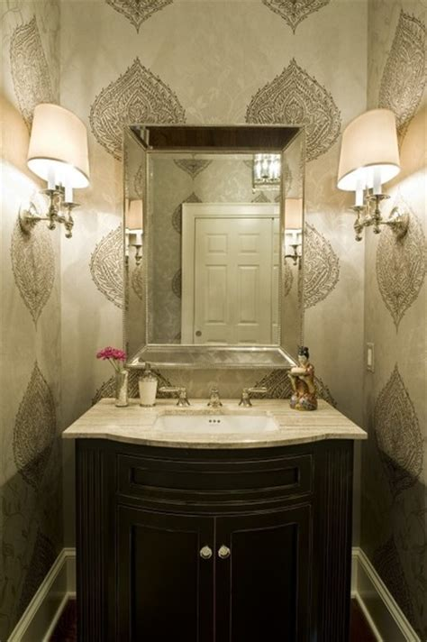 houzz wallpaper bathroom half bath wallpaper lamps jpg