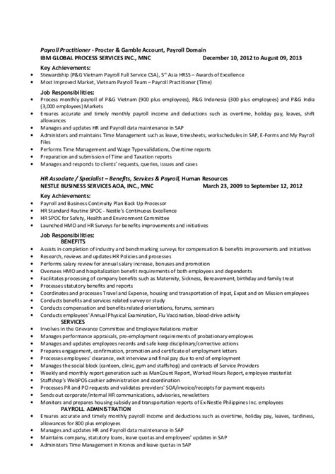 P G Resume by Macaranas Resume