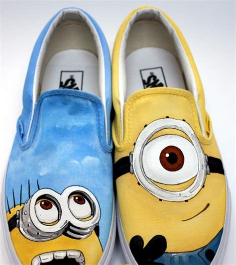 minion shoes slip on painted canvas shoes despicab by ajdv