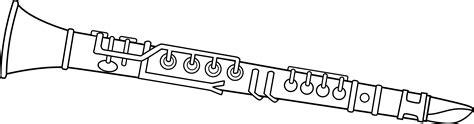 clarinet cartoon drawing