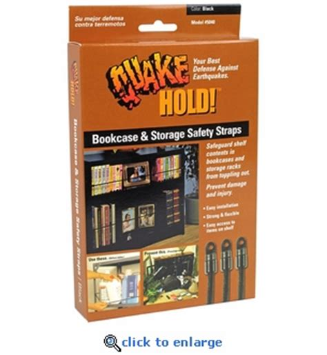 bookcase and storage strap quakehold bookcase storage strap earthquake preparedness