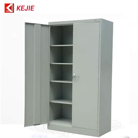 2 door steel storage cabinet metal black lock key safety office metal cupboard 2 door