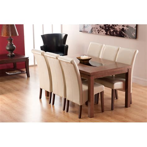 nevada dining table and chairs nevada dining table in walnut and 4 ivory dining chairs