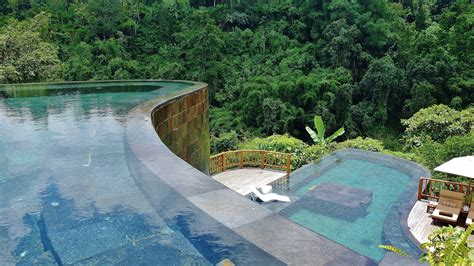 hanging infinity pools in bali 20 swimming pools with incredible views ubud hotels ubud and destinations