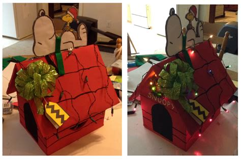 how to make a snoopy dog house snoopy dog house gift box by otaku kaku neko on deviantart