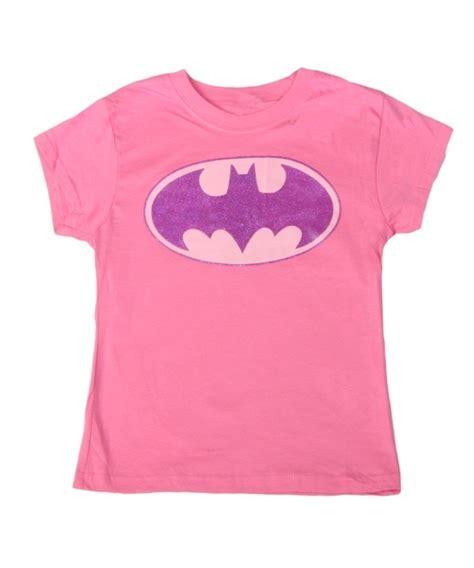 Bubblechats Pink Batman T Shirt batman glitter logo t shirt