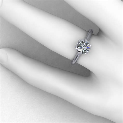 linked prong engagement ring jewelry designs