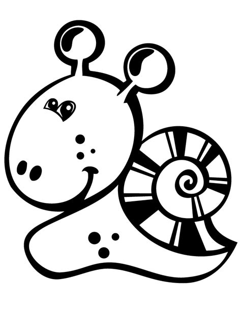 cute snail easy coloring page h m coloring pages