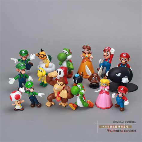 Figure Mario Bros mario bros figures toys dolls 18pcs set mario luigi