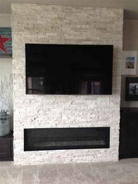 linear fireplace with tv above concept for the living room fireplace tv or could