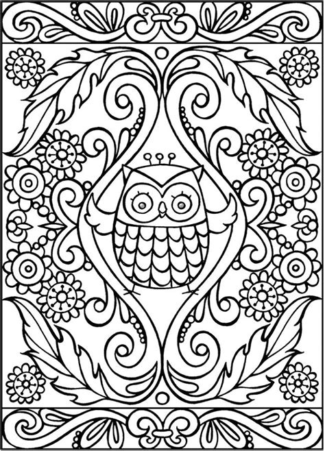 coloring books for adults publishers spark owls coloring book sle pages dover publications