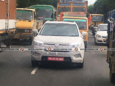 mahindra new arrival mahindra ssangyong tivoli compact suv spied testing in