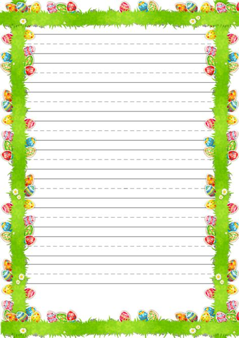 printable lined easter stationery amazing easter handwriting paper with borders