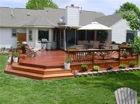 backyard wood deck ideas wood deck installers in hton roads va acdecks