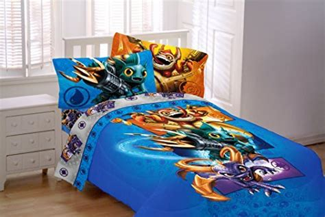 7 Piece Skylanders Twin Bedding Set Includes Twin Sheet Set Twin Comforter