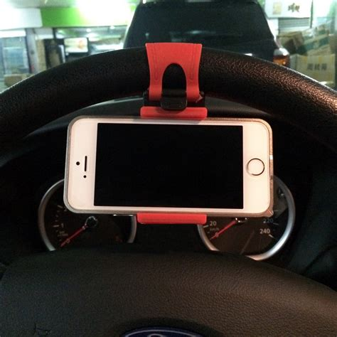 Phone Holder Car Steer Steering Wheel Mini Car Phone Holder Mobile Phone Holder