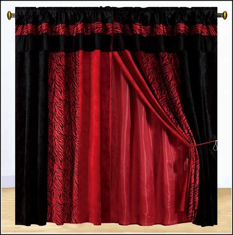 black design curtains red and black curtains uk curtains home design ideas
