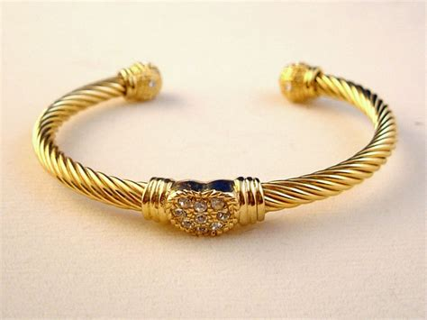 jewelry bracelets designer s touch twisted rope cable cuff bangle