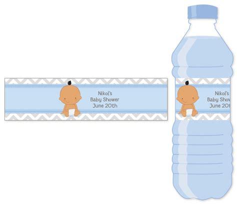 it s a boy chevron hispanic water bottle label baby