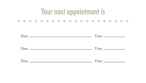 appointment cards design templates the design loft rehab business card appointment